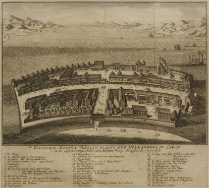 'T Eilandje Desima Verblijf plaats der Hollanders in Japan, 1736